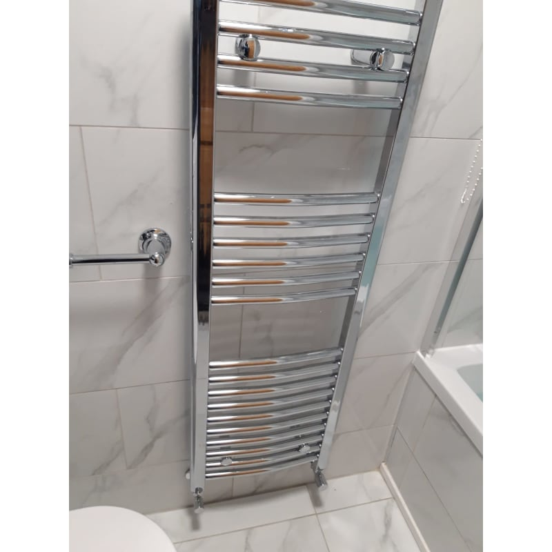 bathroom tiling and radiator fitting