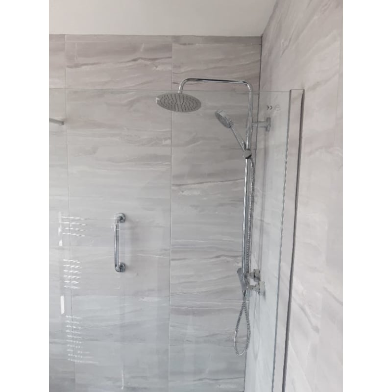 glass shower fitting bathroom tiles