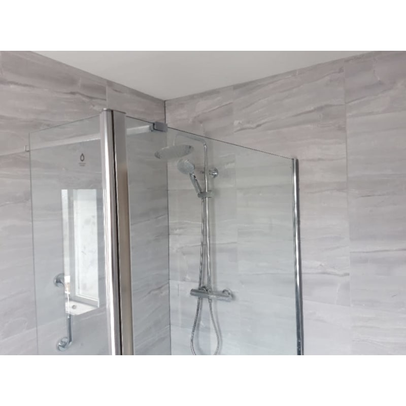 glass shower system modern shower tiling